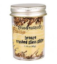 Stampendous Glass Glitter 1.43 Ounces-Bronze
