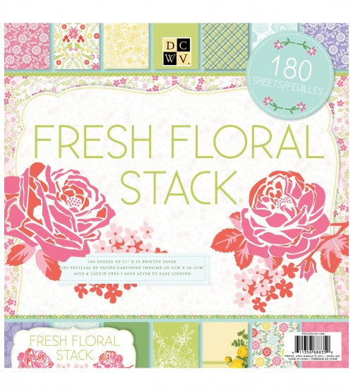 DCWV - Fresh Floral Stack Scrapbook Paper Pad
