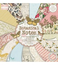First Edition Paper - Botanical Notes Scrapbook Paper Pad