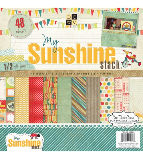 DCWV - The Sunshine Stack Scrapbook Paper Pad