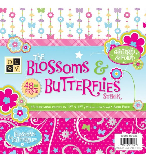 DCWV - The Blossoms Butterflies Stack Scrapbook Paper Pad