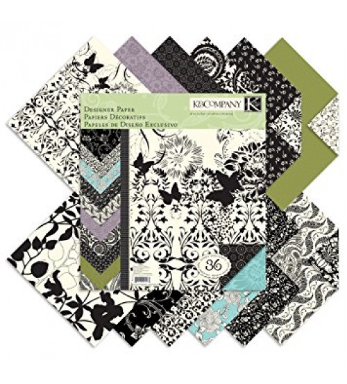 K & Company - Black and Ivory Fushion Scrapbook Paper Pad