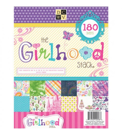DCWV - The Girlhood Stack Scrapbook Paper Pad