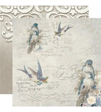 """Stamperia -New England Birds -Double Sided Paper 12""""×12"""""""