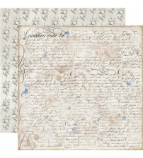 """Stamperia -New England Writing -Double Sided Paper 12""""×12"""""""