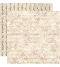 """Stamperia -Shabby With Slogans -Double Sided Paper 12""""×12"""""""