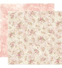 """Stamperia -Shabby Roses With Writing -Double Sided Paper 12""""×12"""""""