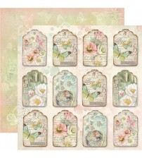 "Stamperia -Spring Tag Gift Tag -Double Sided Paper 12""×12"""