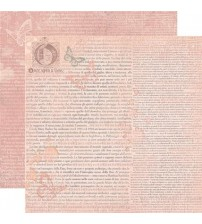 "Stamperia -Once Upon A Time In Pink -Double Sided Paper 12""×12"""