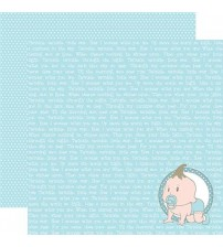 """Stamperia -Blue Baby & Lullaby -Double Sided Paper 12""""×12"""""""