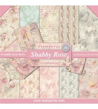 "Stamperia-Shabby Rose 12""×12"" Scrapbook Papers"