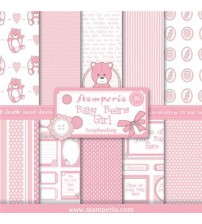 "Stamperia-Baby Bears Girl 12""×12"" Scrapbok Papers"