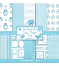"Stamperia- Baby Bears Boy 12""×12"" Scrapbook Papers"