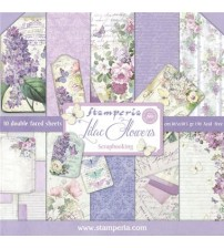 "Stamperia-Lilac Flowers 12""×12"" Scrapbook Papers"