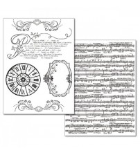 Stamperia Transfer Paper - Music