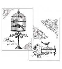 Stamperia Transfer Paper - Birdcage and flower