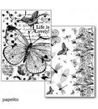 Stamperia Transfer Paper - Butterfly and flower