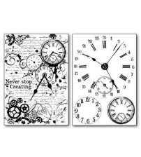 Stamperia Transfer Paper -Black and White Clocks