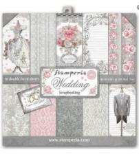 """Stamperia - Wedding 12""""×12"""" Scrapbook Papers"""