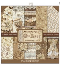 """Stamperia - Old Lace 12""""×12"""" Scrapbook Papers"""
