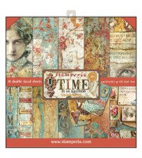 """Stamperia - Time is an Illusion 12""""×12"""" Scrapbook Papers"""