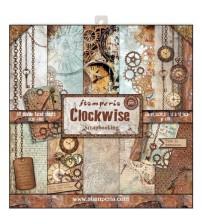 "Stamperia - Clockwise 12""×12"" Scrapbook Papers"