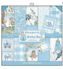 "Stamperia - New Baby Boy 12""×12"" Scrapbook Papers"