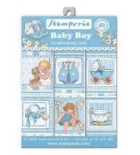 Stamperia - Baby Boy - 4.5 x 6.5 inch Scrapbooking Cards