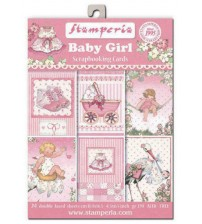 Stamperia - Baby Girl - 4.5 x 6.5 inch Scrapbooking Cards