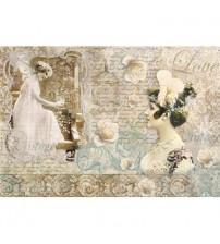 Decoupage Stamperia - Rice Paper - Vintage Love - 48X33cms