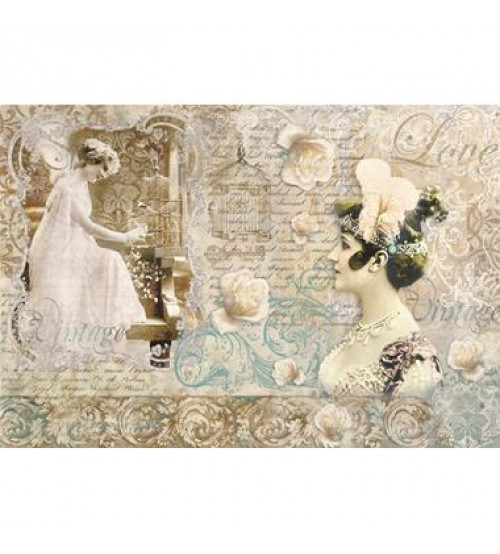 Decoupage Stamperia - Rice Paper - Vintage Love - 48X33cms