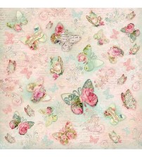 Decoupage Stamperia - Rice Paper - Vintage Butterfly Flourish - 50X50cms