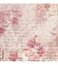 Decoupage Stamperia - Rice Paper - Script & Flowers - 50x50cms