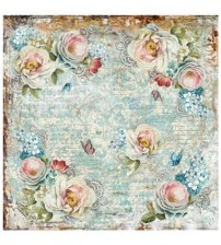 Decoupage Stamperia - Rice Paper - Gears Flowers - 50X50cms