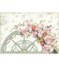 Decoupage Stamperia - Rice Paper - Arc With Roses & Pomogranates - 48X33cms