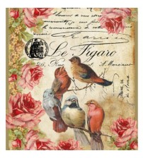 Decoupage Stamperia - A4 Rice Paper - Birds and Flower- 21x29cms