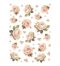 Decoupage Stamperia - A4 Rice Paper - Roses - 21X29cms