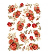 Decoupage Stamperia - A4Rice Paper - Red Roses - 21X29cms