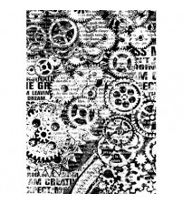 Decoupage Stamperia - A4 Rice Paper - Gears - 21X29cms