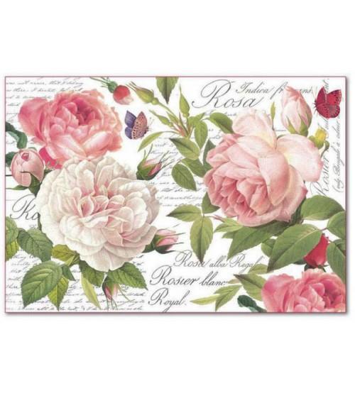 Decoupage Stamperia - Rice Paper - Vintage Rose - 21X29cms