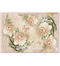 Decoupage Stamperia - Rice Paper - Peony & Laces - 21X29cms