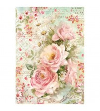 Decoupage Stamperia - A4 Rice Paper - Roses & Daisies