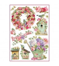 Decoupage Stamperia - A4 Rice Paper - Rose Garden