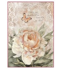 Decoupage Stamperia - A4 Rice Paper - Vintage Rose & Lace