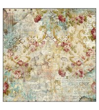 Decoupage Stamperia - Rice Paper - Time is an illusion Floral Texture - 50x50cms