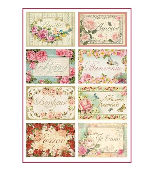 Decoupage Stamperia - A4 Rice Paper - Mix Tags - 21x29cms
