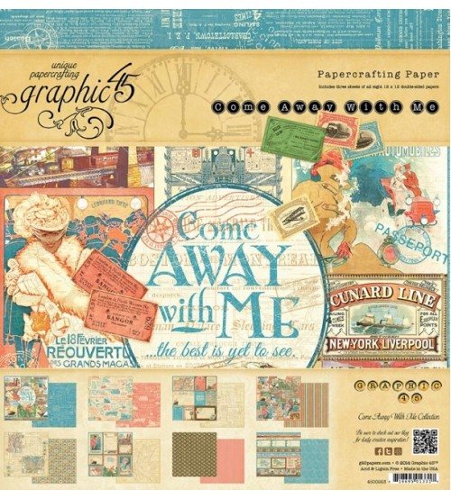 Graphic45 - Come Away With Me Scrapbook Paper Pad