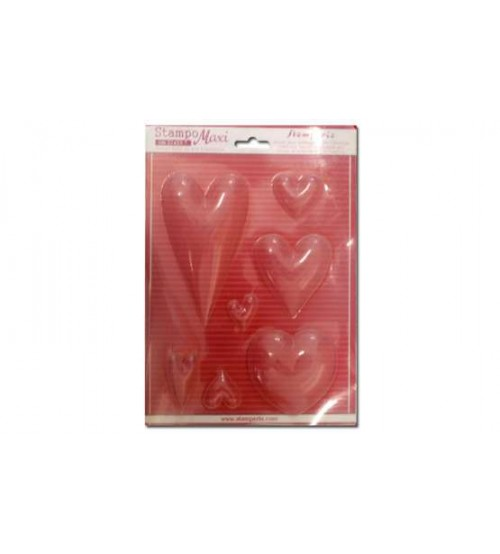 Stamperia - Heart Soft Maxi Mold