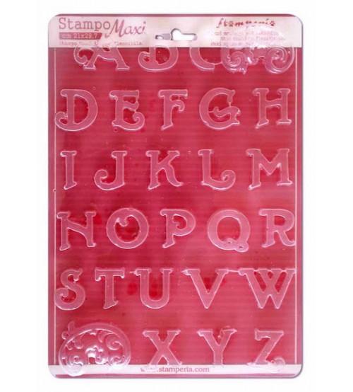 Stamperia - Alphabet Initials Soft Maxi Mold Tools