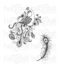 Heartfelt creations - Feathery Peacock